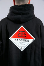 HOODIE RED CAUTION - BLACK