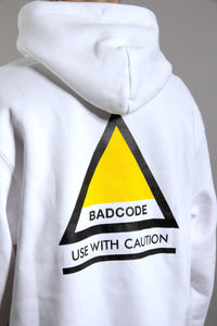 HOODIE YELL CAUTION - WHITE