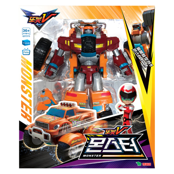 TOBOT Youngtoys TOBOT V Monster Robot Transforming Robot Car to Robot Animation Character