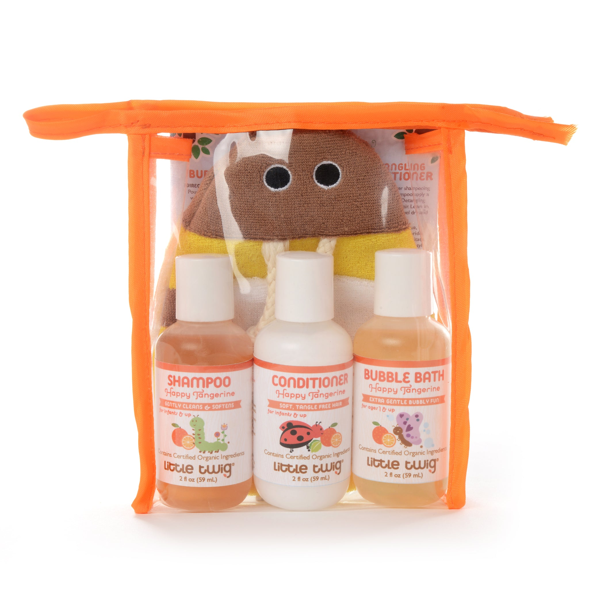 Happy Tangerine Travel Set