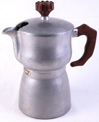 CAFFEXPRESS Moka Pot Italy 1940's? Cast Alloy RARE Coffee Maker