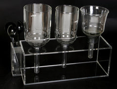 Syphon Bar 3 GLASS STAND Acrylic- For cafe/bar