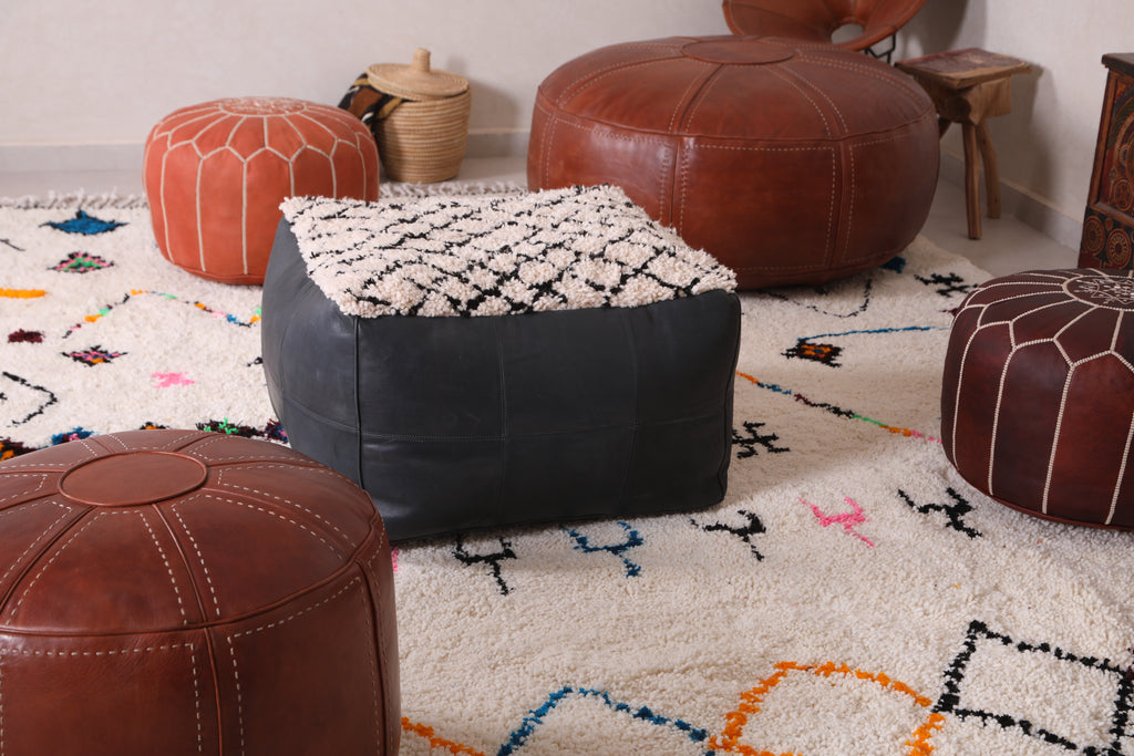 Importance of MOROCCAN POUFS WITH BERBER RUGS AT HOME DECOR