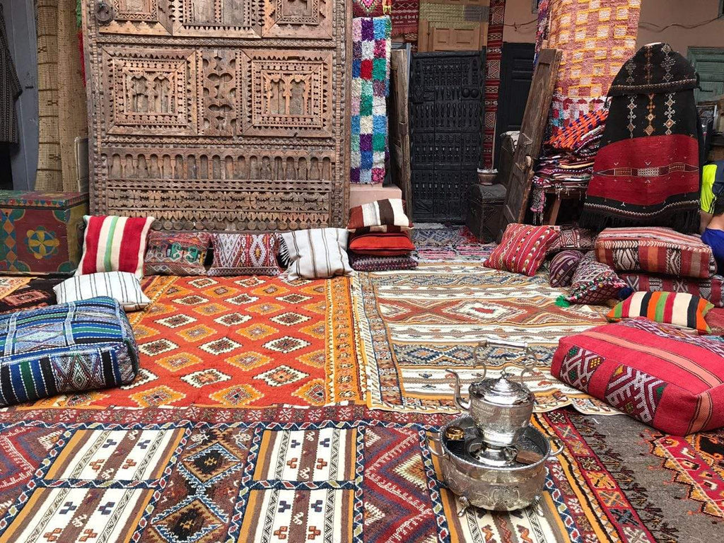 Berber carpet morocco making process.