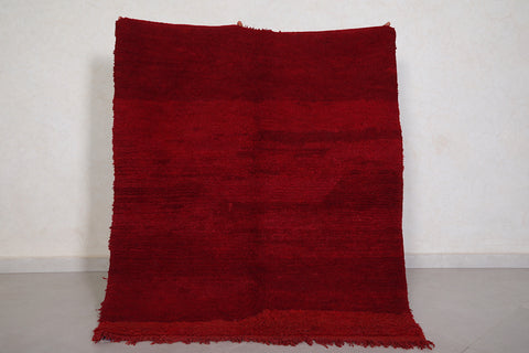 Moroccan Red rug 4 FT X 4.7 FT