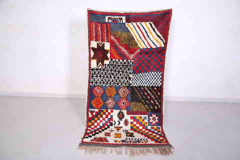 Traditional Berber solid rug 3.3 FT X 6.3 FT