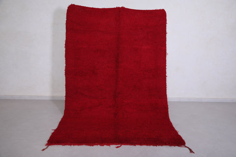 Moroccan rug red 5.5 FT X 8.3 FT
