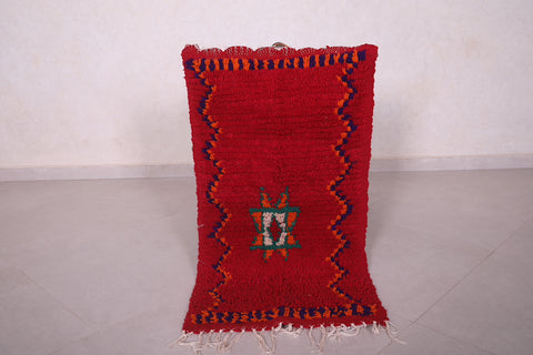 Moroccan red rug 1.8 FT X 3.3 FT