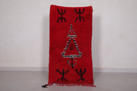 Moroccan red rug 2 FT X 4.1 FT