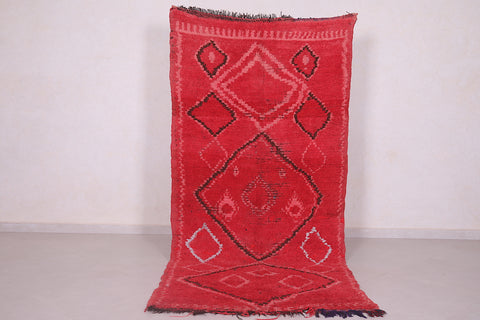 Moroccan rug red 3.8 FT X 8.5 FT