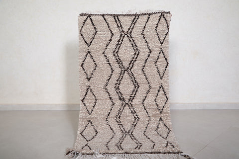 All Wool beni ourain rug 2.3 FT X 3.9 FT