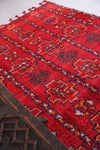 Handmade Moroccan rug red 5.8 FT X 10.8 FT