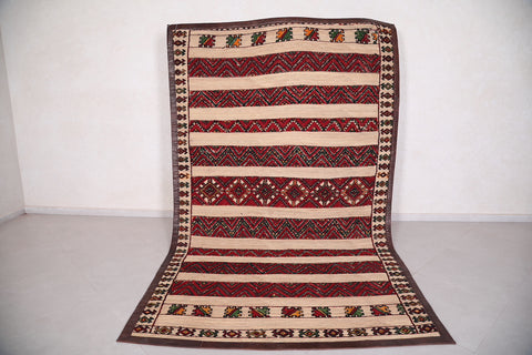 Moroccan hassira mat 6 FT X 10 FT