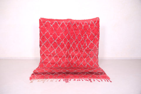Red Moroccan rug 2.3 FT X 7 FT