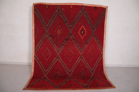 Moroccan Hassira mat 6.2 FT X 8.1 FT