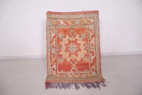 Antique moroccan rug 2.9 FT X 4.1 FT