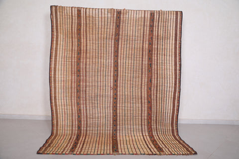 Tuareg Mat Stripe Reed Rug 5.9 FT X 7.4 FT