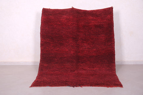 Moroccan rug red 4.6 FT X 6.2 FT