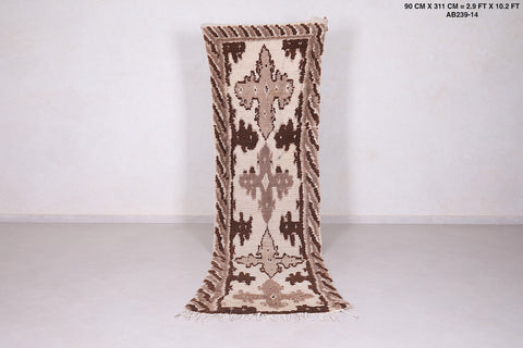 Hallway rug, 2.9 FT X 10.2 FT, Authentic Beni ourain rug