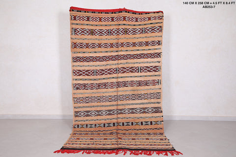 Antique moroccan rug 4.5 FT X 8.4 FT