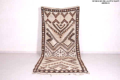 Moroccan wool rug, 4.4 FT X 10.8 FT