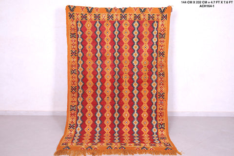 Authentic moroccan rug, 4.7 FT X 7.6 FT
