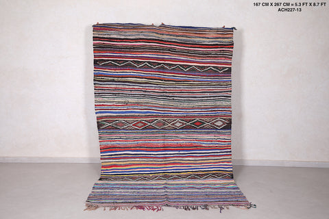 Handwoven  rug, 5.3 FT X 8.7 FT