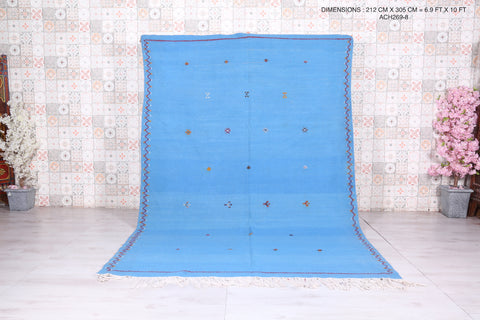 Moroccan rug blue sky 6.9 FT X 10 FT