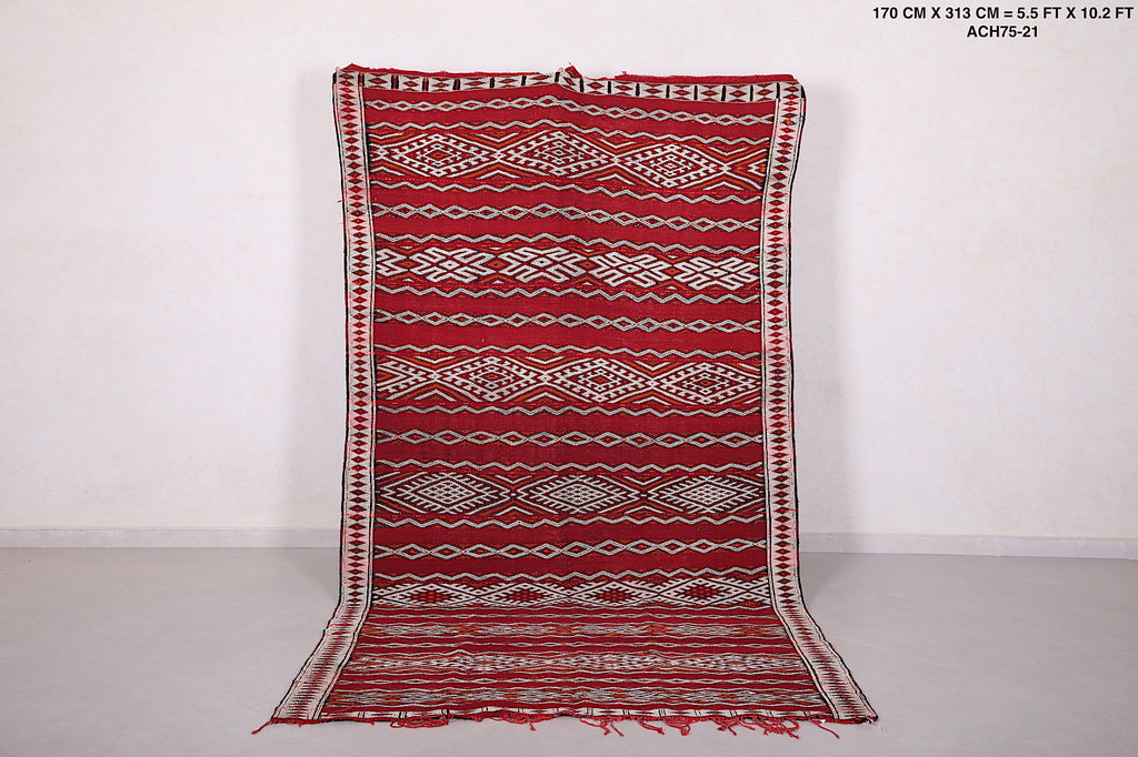 Moroccan rug,  5.5 ft x 10.2 ft