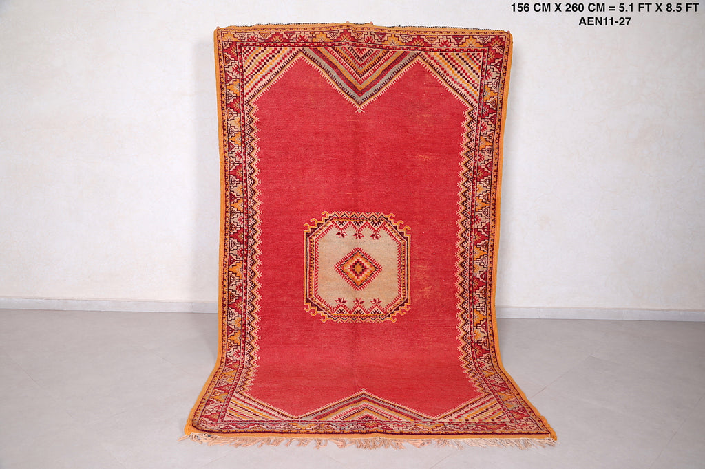 Berber rug, 5ft x 8.5ft, Hand knotted rug,
