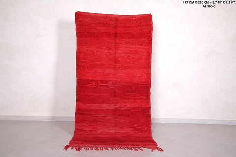 Runner red rug 3.7 FT X 7.2 FT