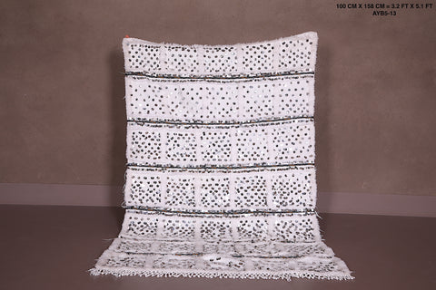 Moroccan wedding blanket, 3.2 FT X 5.1 FT,