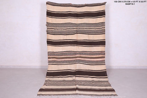 Woven Moroccan rug 4.9 FT X 8.8 FT