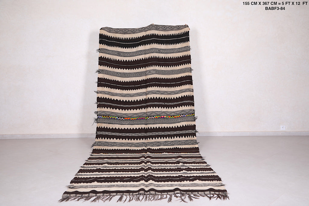 Moroccan rug, 5 ft x 12 ft