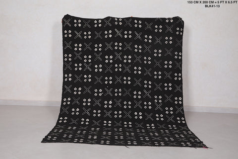 African Black Fabric, 5 FT X 6.5 FT