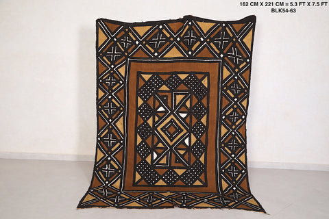 African textile Mud Cloth 5.3 FT X 7.5 FT
