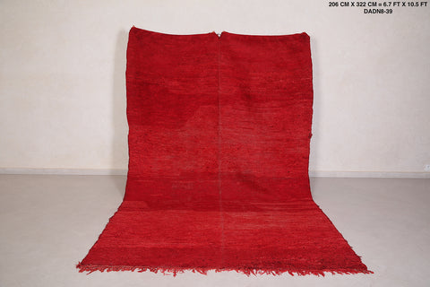 moroccan rug red,  6.7 FT X 10.5 FT