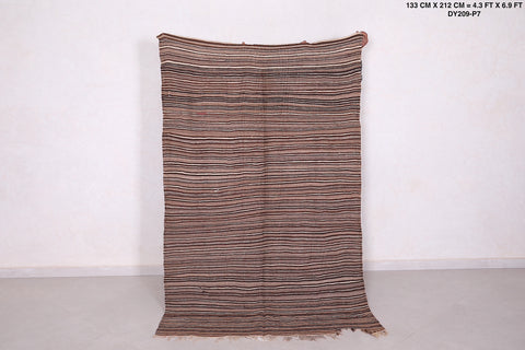 Hand woven Moroccan rug 4.3 FT X 6.9 FT