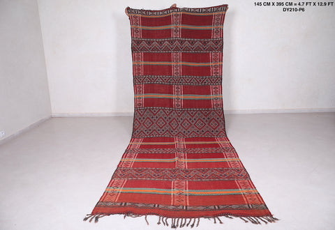 Long moroccan rug, 4.7 FT X 12.9 FT