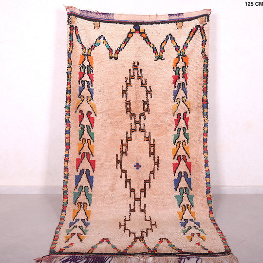 Moroccan rug, 4.1ft x 8ft