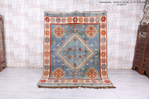 Berber area rug 5.7 FT X 7.6 FT
