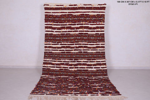 Long moroccan rug, 5.4 FT X 10 FT, Hallway berber carpet