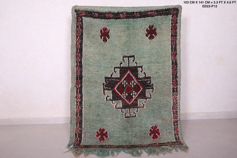 Antique moroccan rug 3.3 FT X 4.6 FT