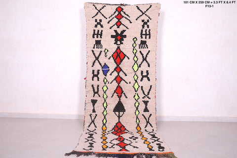 Moroccan azilal rug 3.3 FT X 8.4 FT