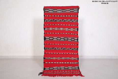 Small kilim, Handwoven, 2.2 FT X 5.2 FT