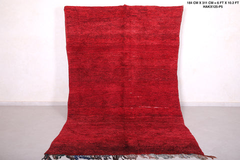 Moroccan red rug 6 FT X 10.2 FT