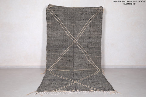 Grey Moroccan rug, 4.7 FT X 8.4 FT