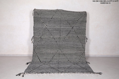 Handwoven berber carpet, 6.3 FT X 10 FT