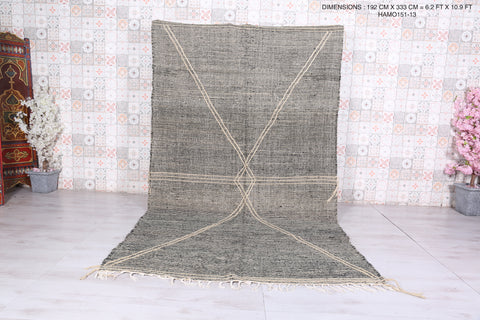 Grey Moroccan rug, 6.2 FT X 10.9 FT