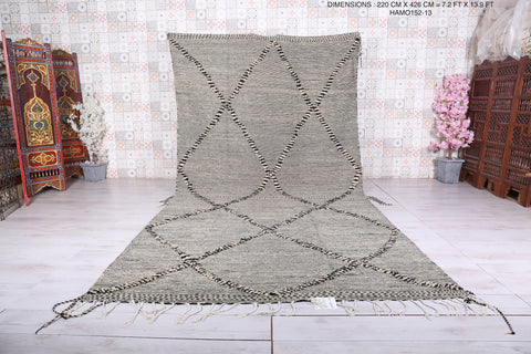 Large moroccan rug , Handwoven berber carpet,  7.2 FT X 13.9 FT